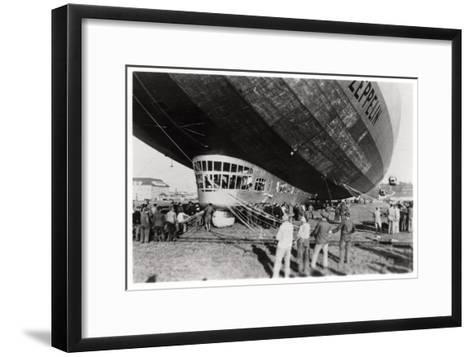 Zeppelin LZ 127 'Graf Zeppelin' after Landing, 1933--Framed Art Print