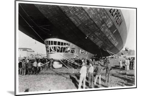 Zeppelin LZ 127 'Graf Zeppelin' after Landing, 1933--Mounted Giclee Print