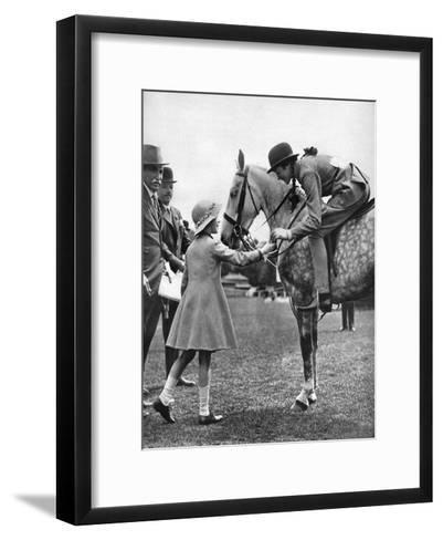 Princess Elizabeth at Children's Day, Richmond Horse Show, C1936--Framed Art Print