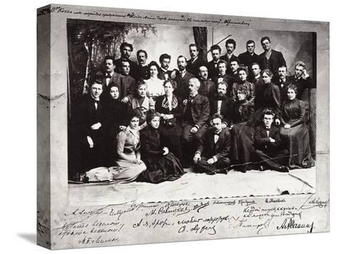 The First Troupe of the Moscow Art Theatre, Russia, 1900--Stretched Canvas Print
