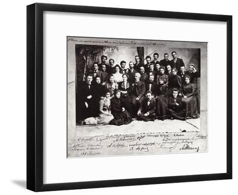 The First Troupe of the Moscow Art Theatre, Russia, 1900--Framed Art Print