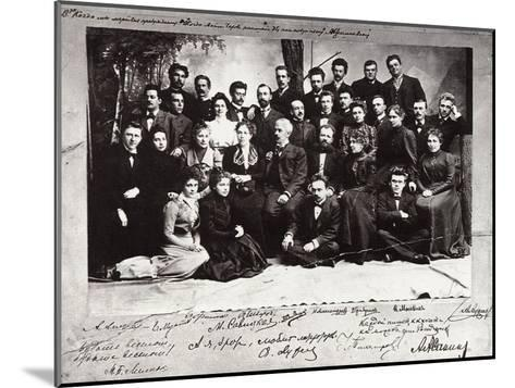 The First Troupe of the Moscow Art Theatre, Russia, 1900--Mounted Giclee Print