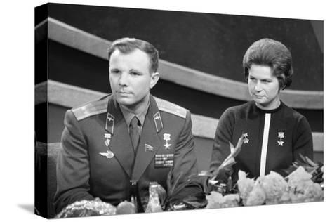 Yuri Gagarin and Valentina Tereshkova, Russian Cosmonauts, 1963--Stretched Canvas Print