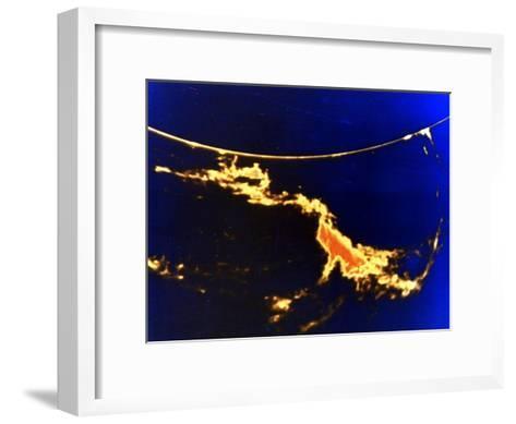 X-Ray Image of a Solar Flare--Framed Art Print