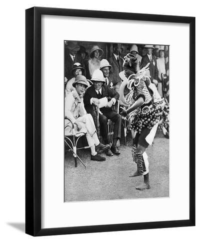 The Prince of Wales Watching a Traditional Dance, Freetown, Sierra Leone, 1925--Framed Art Print