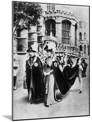 King George V and Queen Mary in the Robes of the Knights of the Garter, Windsor, 1937--Mounted Giclee Print