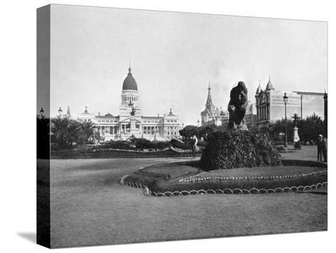 Plaza De Mayo and Congress Building, Buenos Aires, Argentina--Stretched Canvas Print