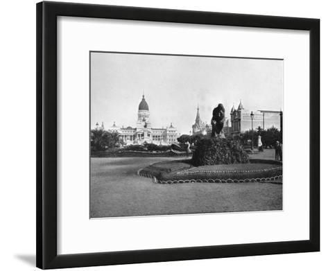 Plaza De Mayo and Congress Building, Buenos Aires, Argentina--Framed Art Print