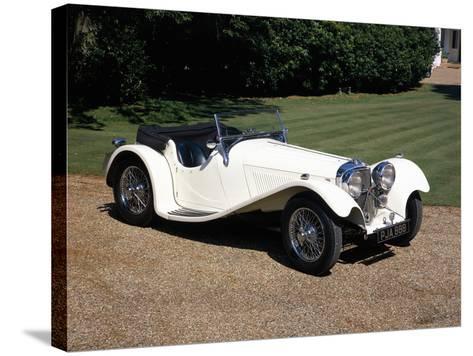 1937 Jaguar SS100--Stretched Canvas Print