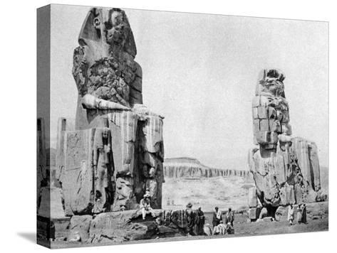The Colossi of Memnon, Luxor (Thebe), Egypt, C1922--Stretched Canvas Print
