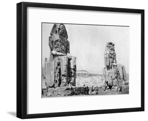 The Colossi of Memnon, Luxor (Thebe), Egypt, C1922--Framed Art Print