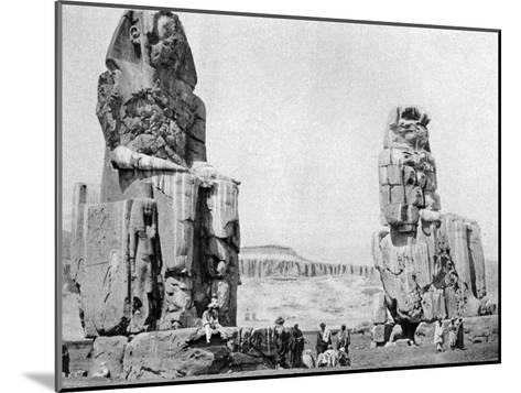 The Colossi of Memnon, Luxor (Thebe), Egypt, C1922--Mounted Giclee Print