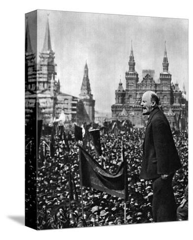 Vladimir Ilich Lenin, Russian Bolshevik Leader, Moscow, Russia, 1 May 1919--Stretched Canvas Print
