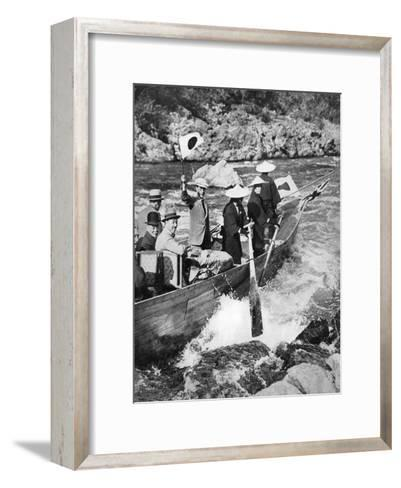 The Prince of Wales Shooting the Rapids at Kyoto, Japan, 1922--Framed Art Print