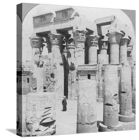 Temple of Kom Ombo, Egypt, C1899--Stretched Canvas Print