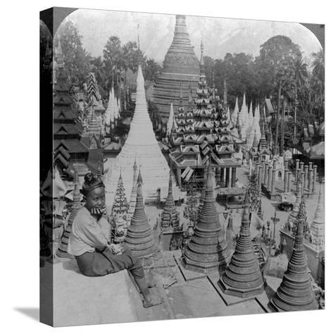 Shwedagon Pagoda, Rangoon, Burma, C1900s-Underwood & Underwood-Stretched Canvas Print