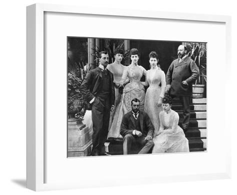 King Edward VII's Family, Marlborough House, London, C1890--Framed Art Print