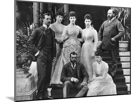 King Edward VII's Family, Marlborough House, London, C1890--Mounted Giclee Print