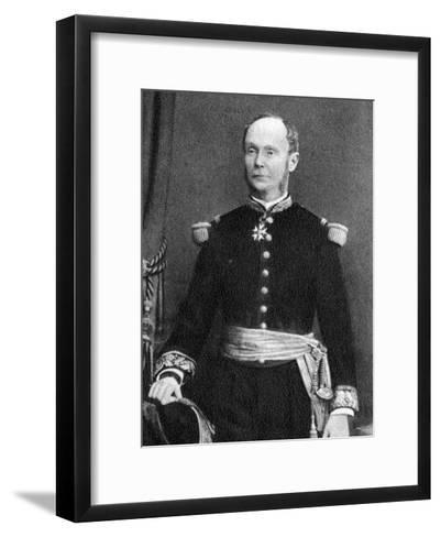 Amedee Courbet, French Admiral, 1880--Framed Art Print