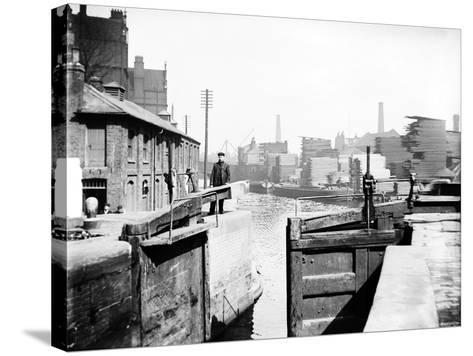 The Industrial Landscape on the Regent's Canal, London, C1905--Stretched Canvas Print
