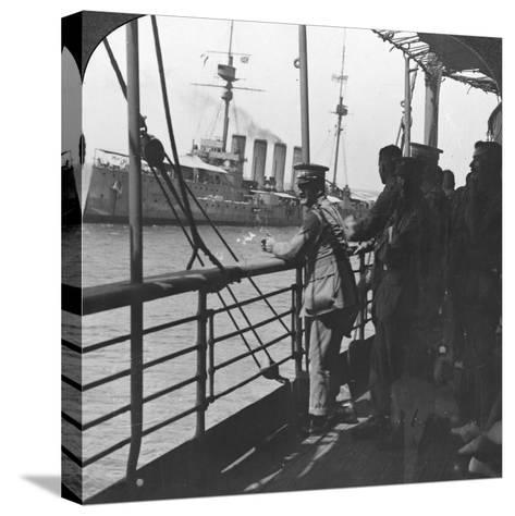 British Troops on a Troopship, World War I, C1914--Stretched Canvas Print