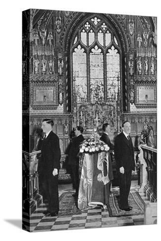 King George V Lying in State, Church of St Mary Magdalene, Sandringham, Norfolk, January 1936--Stretched Canvas Print
