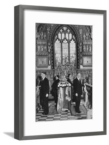 King George V Lying in State, Church of St Mary Magdalene, Sandringham, Norfolk, January 1936--Framed Art Print