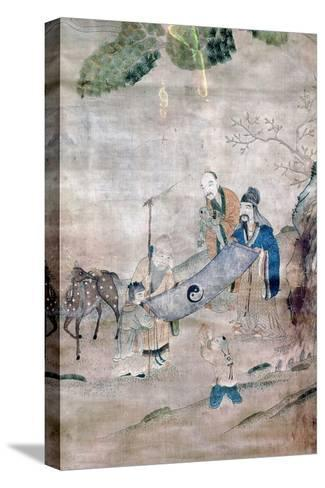 Three Sages of T'Ai Chi, Chinese, 17th or 18th Century--Stretched Canvas Print