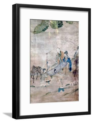 Three Sages of T'Ai Chi, Chinese, 17th or 18th Century--Framed Art Print