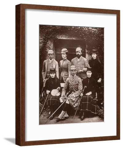 The Prince and Princess of Wales in Shooting Dress, 1900- Russell & Sons-Framed Art Print