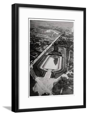 Aerial View of Volkerschlachtdenkmal, Leipzig, Germany, from a Zeppelin, C1931--Framed Art Print