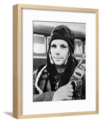 Yuri Gagarin, Russian Cosmonaut, 1961--Framed Art Print