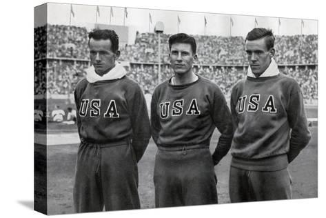 Robert Clark, Glenn Morris, John Parker, American Decathletes, Berlin Olympics, 1936--Stretched Canvas Print