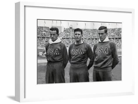 Robert Clark, Glenn Morris, John Parker, American Decathletes, Berlin Olympics, 1936--Framed Art Print