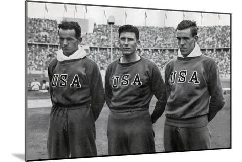 Robert Clark, Glenn Morris, John Parker, American Decathletes, Berlin Olympics, 1936--Mounted Giclee Print