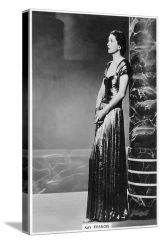 Kay Francis, American Stage and Film Actress, 1938--Stretched Canvas Print