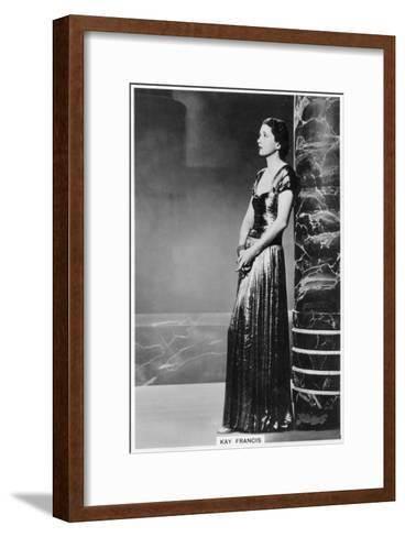 Kay Francis, American Stage and Film Actress, 1938--Framed Art Print