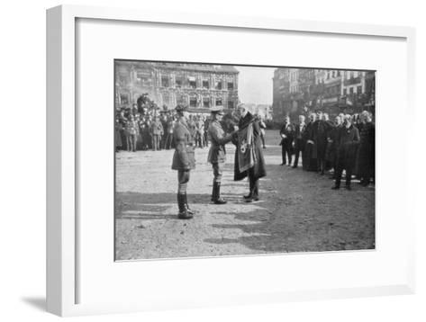 Lille Being Liberated by the British 5th Army, France, 17 October 1918--Framed Art Print