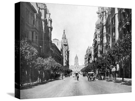 Avenida De Mayo (May Avenu), Buenos Aires, Argentina--Stretched Canvas Print