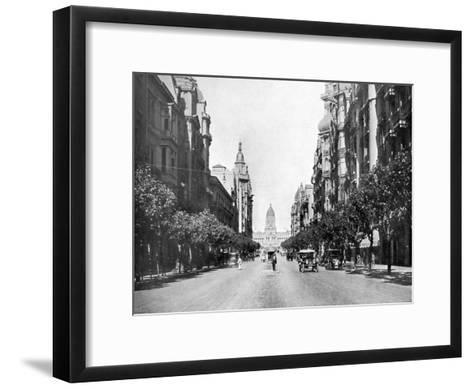 Avenida De Mayo (May Avenu), Buenos Aires, Argentina--Framed Art Print