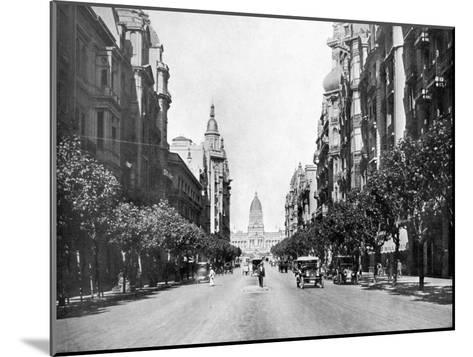 Avenida De Mayo (May Avenu), Buenos Aires, Argentina--Mounted Giclee Print