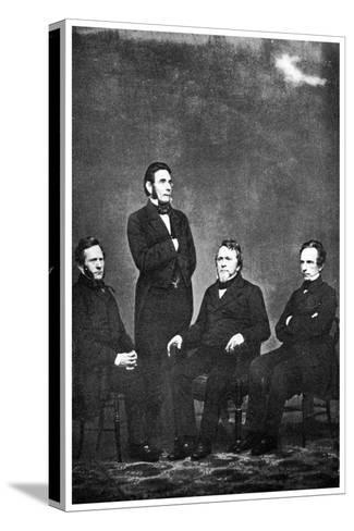 The Famous Publishing Company of Harper and Brothers' 1863-MATHEW B BRADY-Stretched Canvas Print