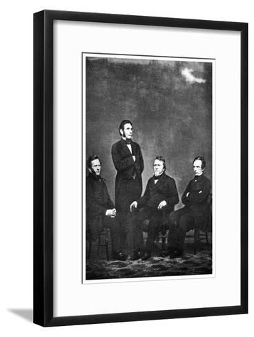 The Famous Publishing Company of Harper and Brothers' 1863-MATHEW B BRADY-Framed Art Print