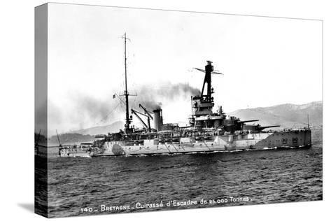 Bretagne' French Dreadnought of 25,000 Tons, C1915-1940--Stretched Canvas Print