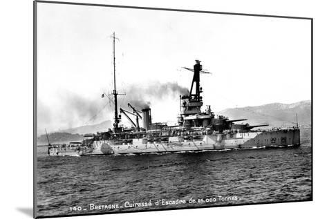 Bretagne' French Dreadnought of 25,000 Tons, C1915-1940--Mounted Giclee Print