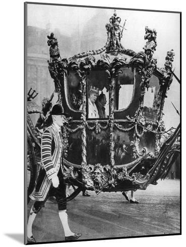 King George V and Queen Mary on their Way to the State Opening of Parliament, C1930S--Mounted Giclee Print