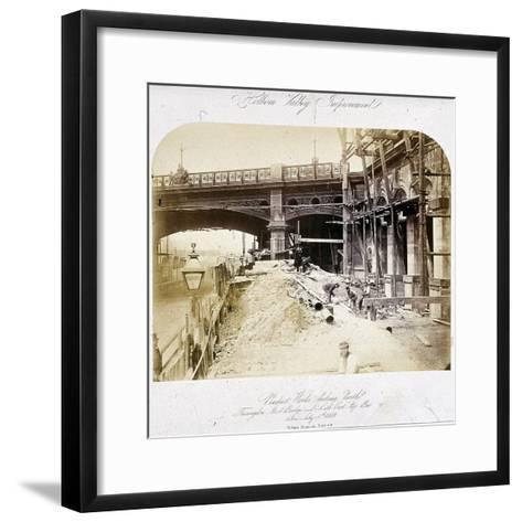 Holborn Viaduct, London, 1869--Framed Art Print