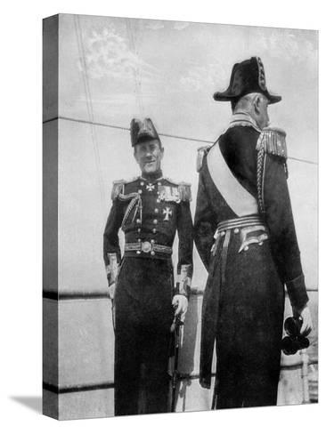 Commodore Keppel with the Duke of Connaught, 1908--Stretched Canvas Print