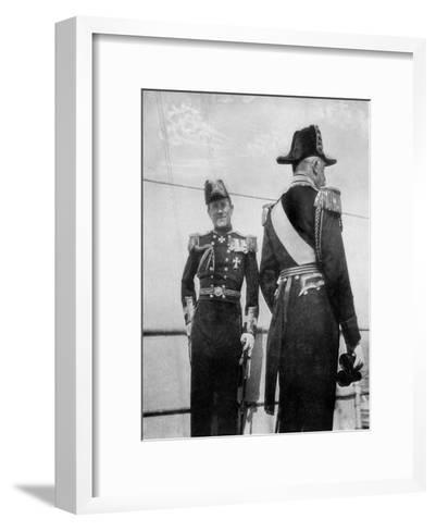 Commodore Keppel with the Duke of Connaught, 1908--Framed Art Print