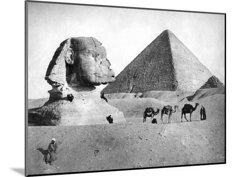 The Sphinx and Pyramid at Giza, Egypt, C1882--Mounted Giclee Print